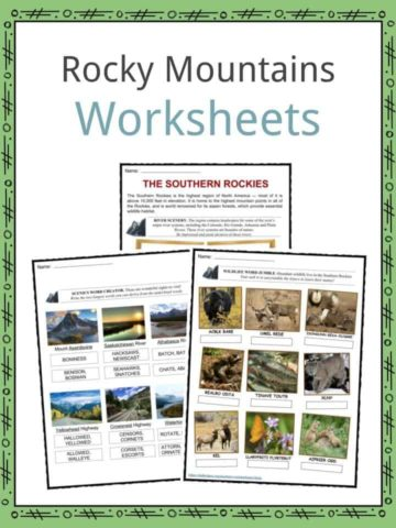 Rocky Mountains Worksheets