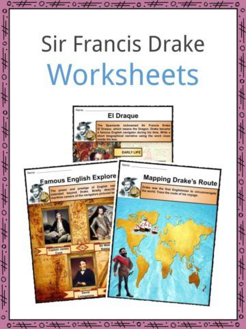 Sir Francis Drake Worksheets