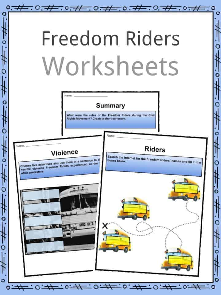 Freedom Riders Worksheets
