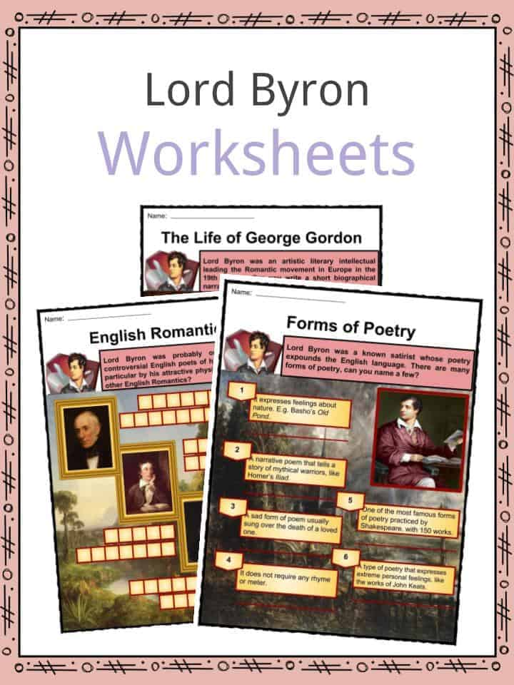 Lord Byron Worksheets