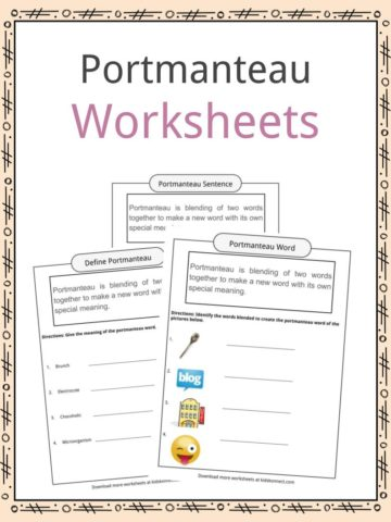 Portmanteau Worksheets