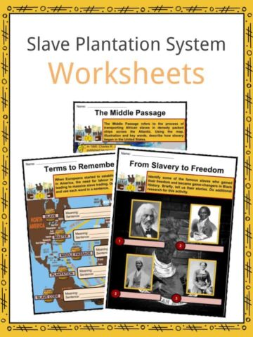Slave Plantation System Worksheets
