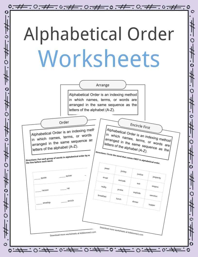 - Alphabetical Order Worksheets, Examples & Definition KidsKonnect