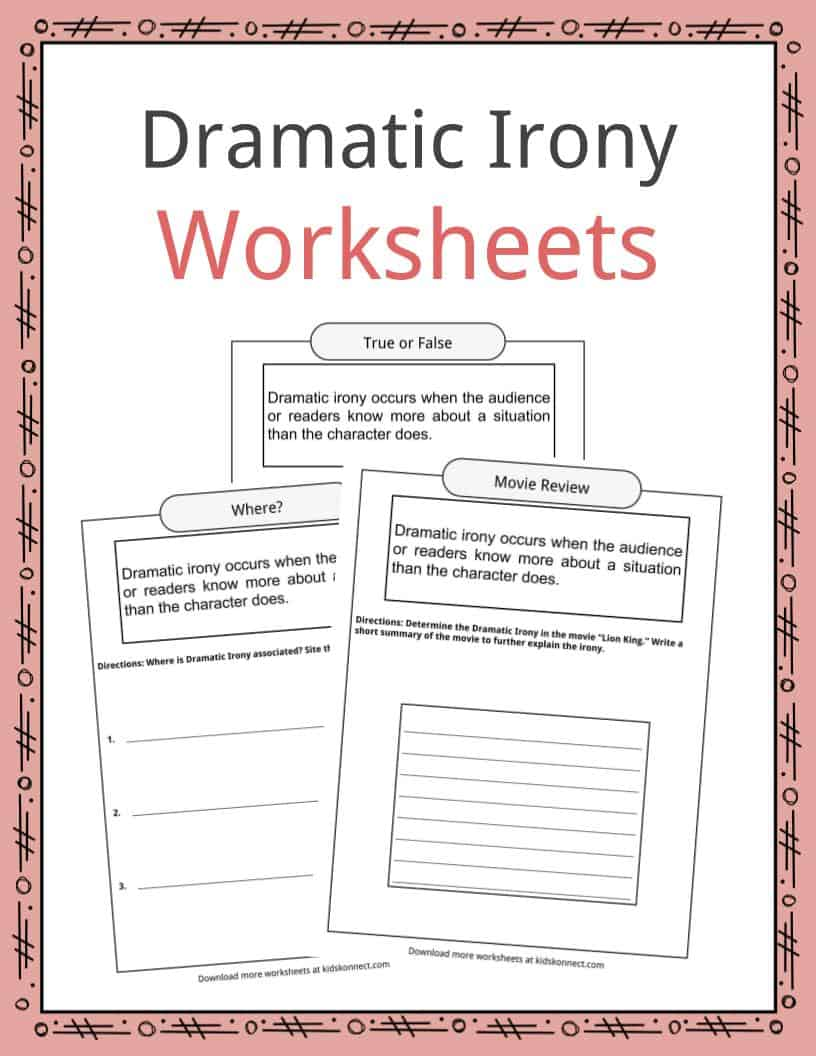 Dramatic Irony Worksheets