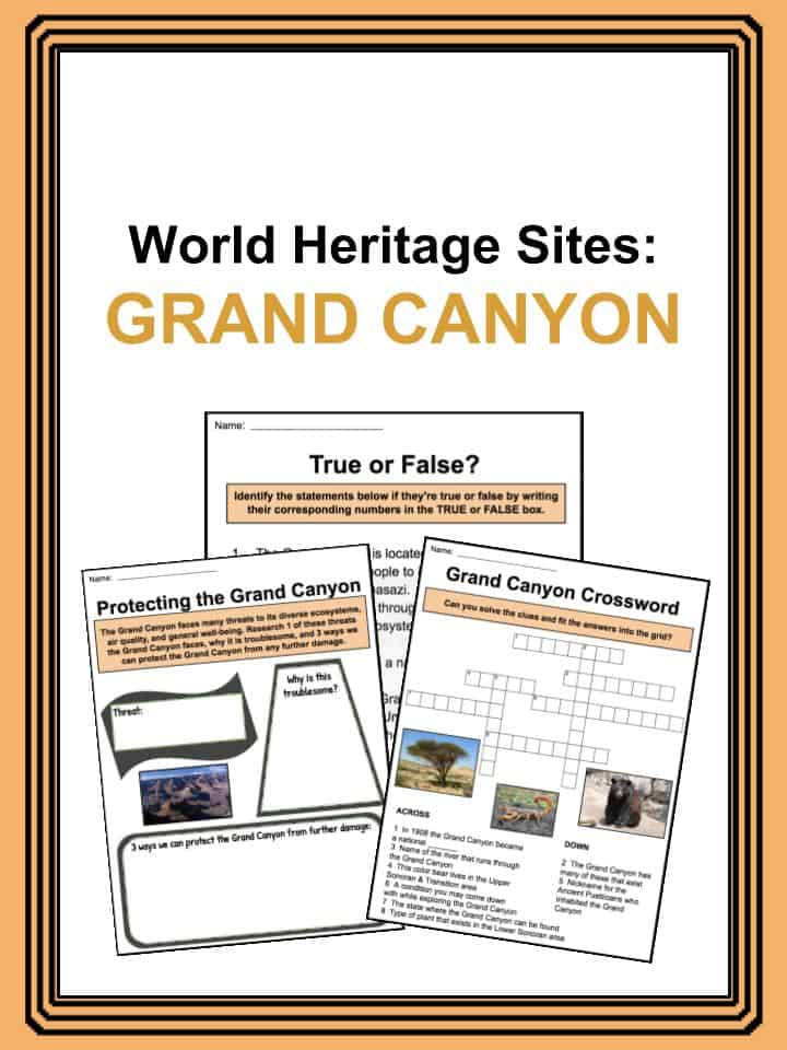 Grand Canyon Worksheets