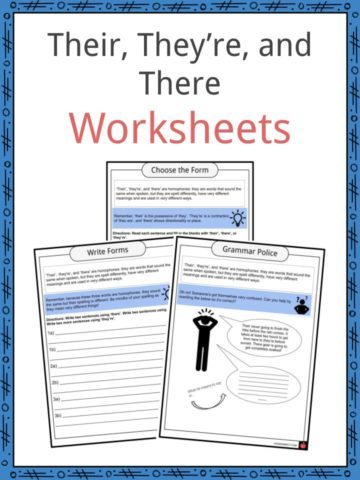 Their, They're, and There Worksheets