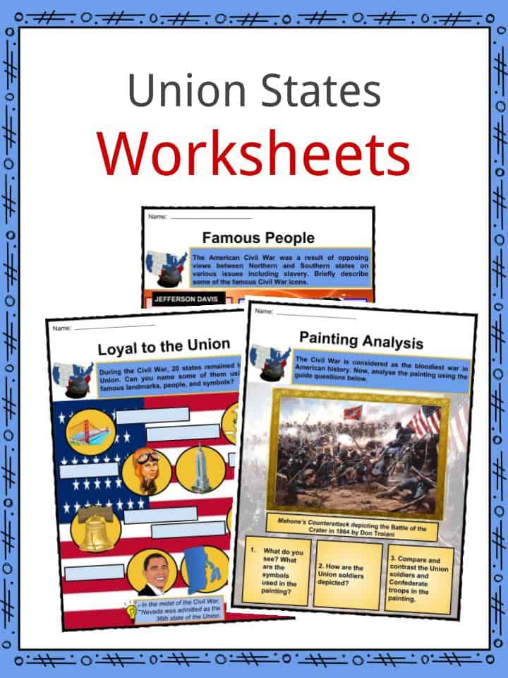 Union States Worksheets