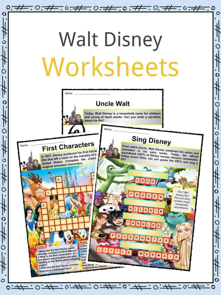Walt Disney Worksheets
