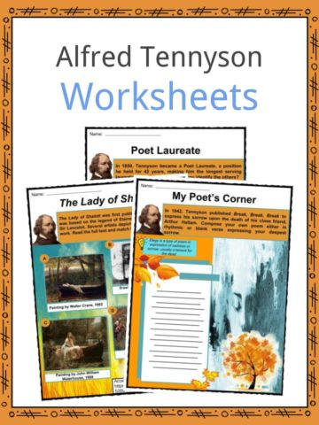Alfred Tennyson Worksheets