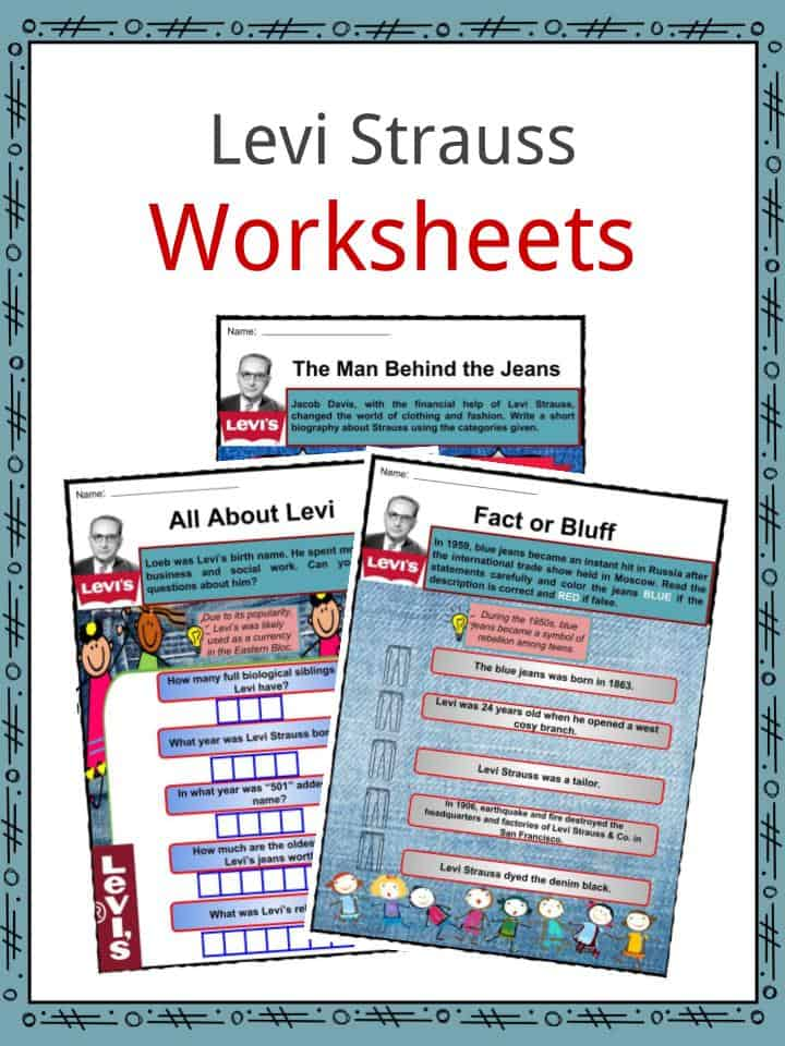 Levi Strauss Facts Worksheets Biography Career For Kids