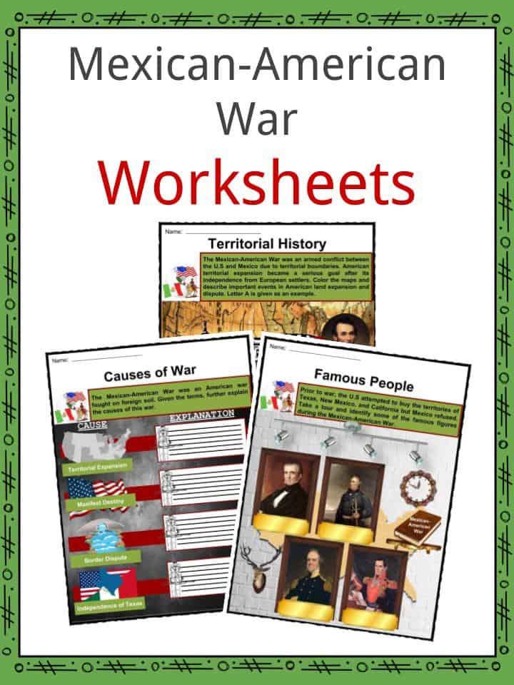 Mexican-American War Worksheets