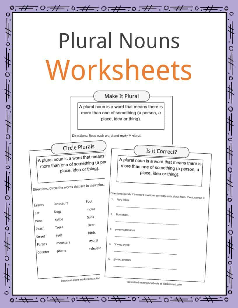 Plural Nouns Facts, Worksheets, Examples & Definition For Kids