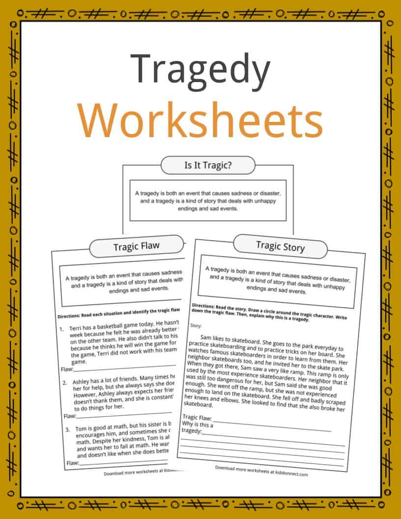 Tragedy Worksheets
