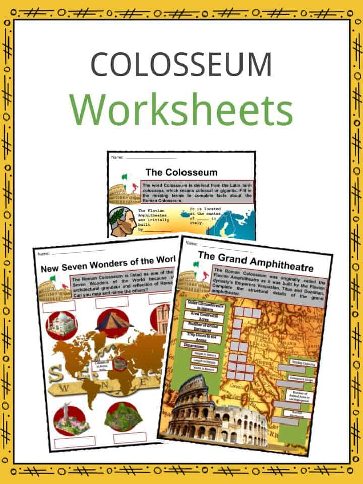 Colosseum Worksheets