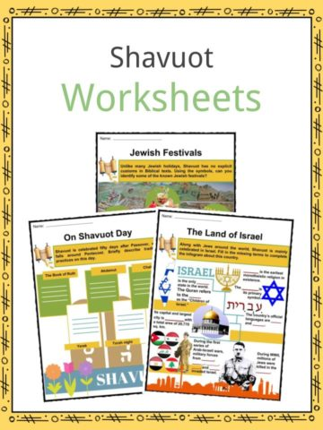 Shavuot Worksheets