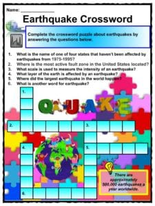 Earthquake Facts Worksheets Impact Historic Earthquakes For Kids
