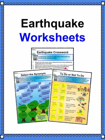 Earthquake Worksheets