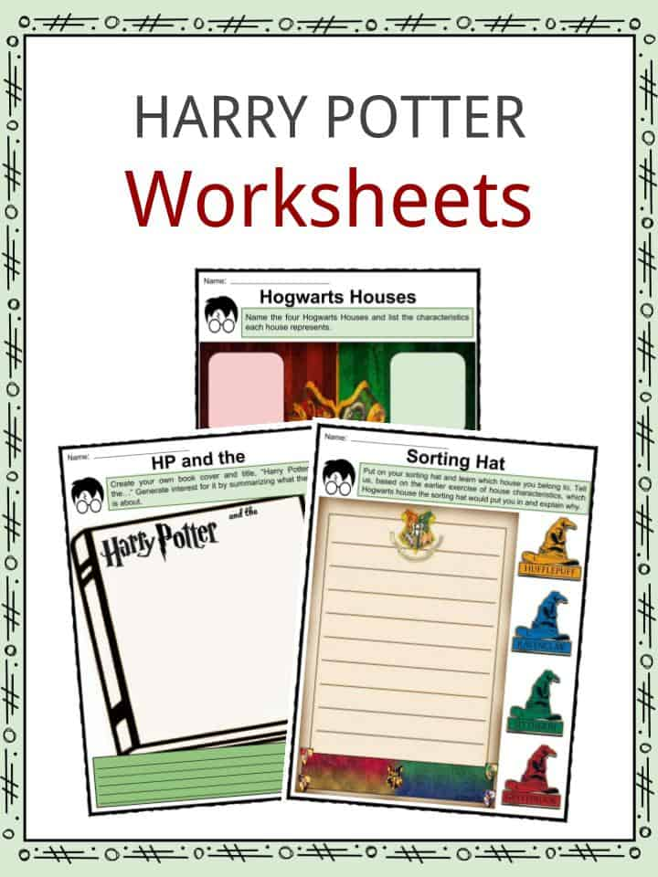 Harry Potter Facts Worksheets Novel Information For Kids