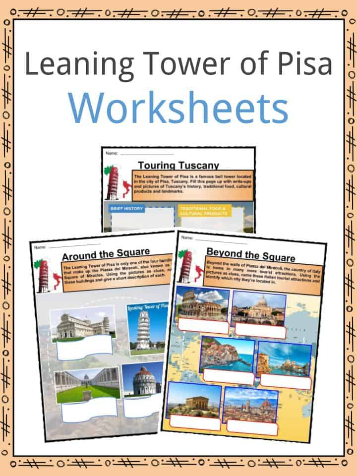 Leaning Tower of Pisa Worksheets