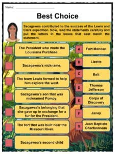 Sacagawea Facts Worksheets Exploration Life Death For Kids