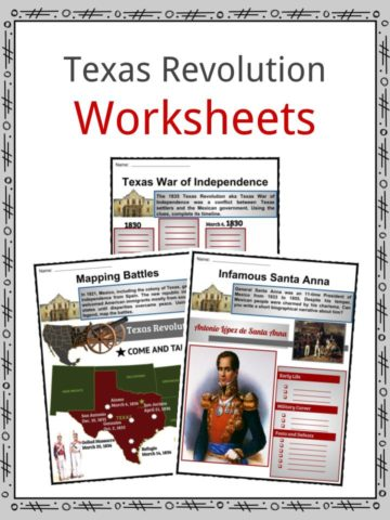 Texas Revolution Worksheets