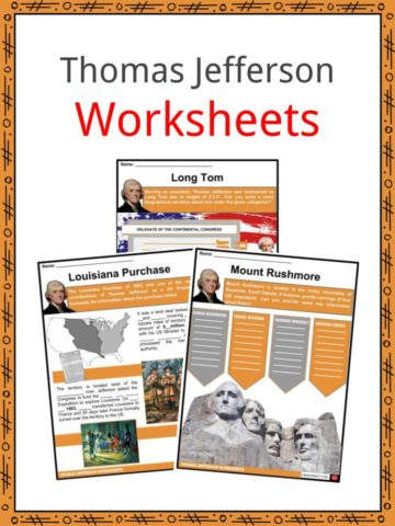 Thomas Jefferson Worksheets