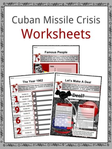 Cuban Missile Crisis Worksheets
