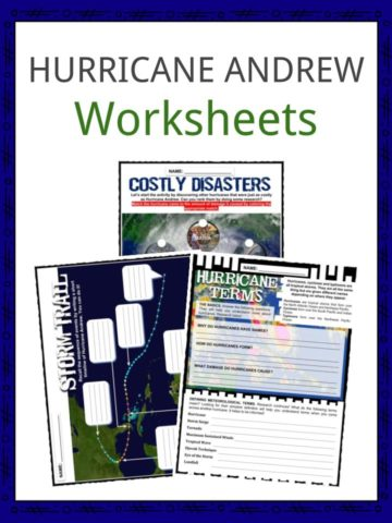 HURRICANE ANDREW Worksheets
