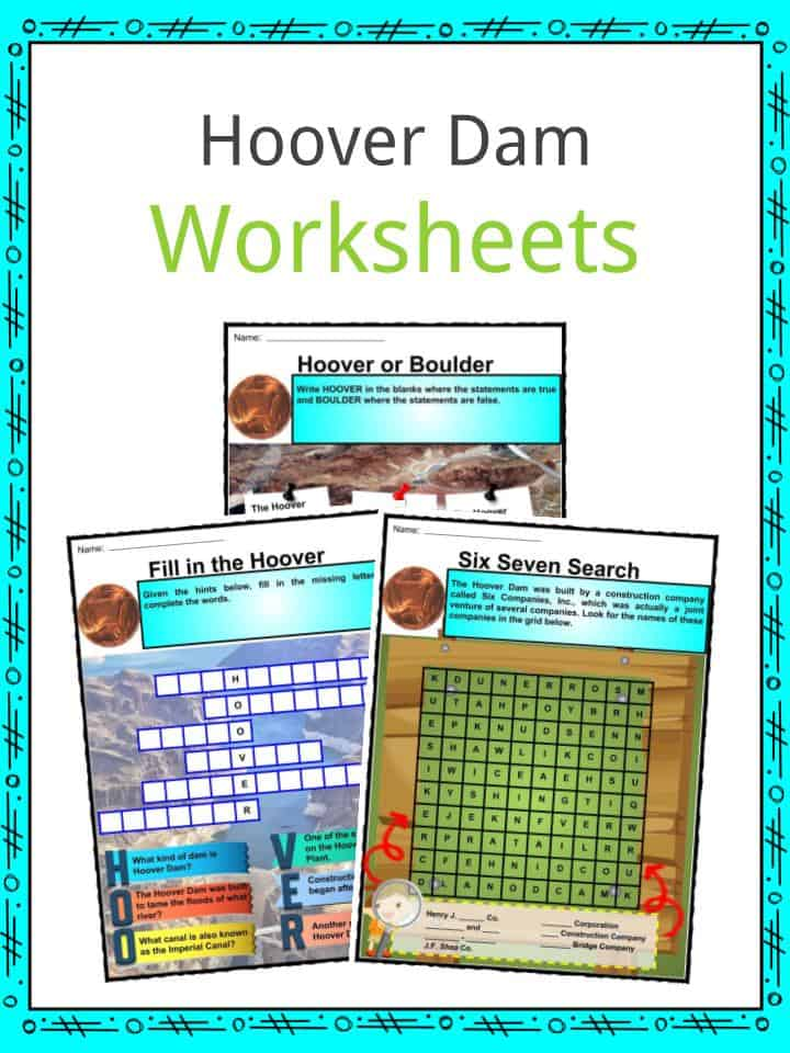 Hoover Dam Worksheet