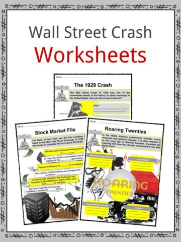 Wall Street Crash Worksheets
