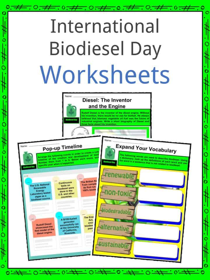 International Biodiesel Day Worksheets