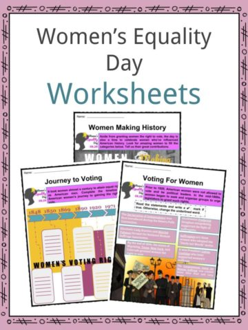 Women's Equality Day Worksheets