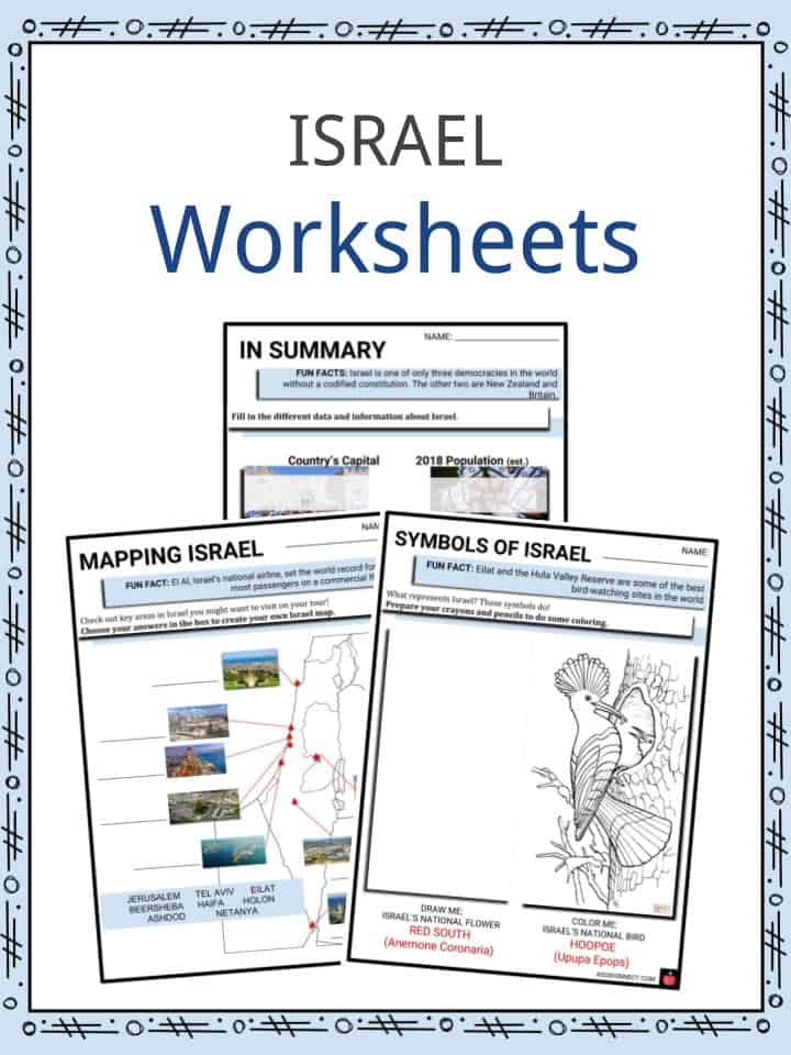 ISRAEL Worksheets