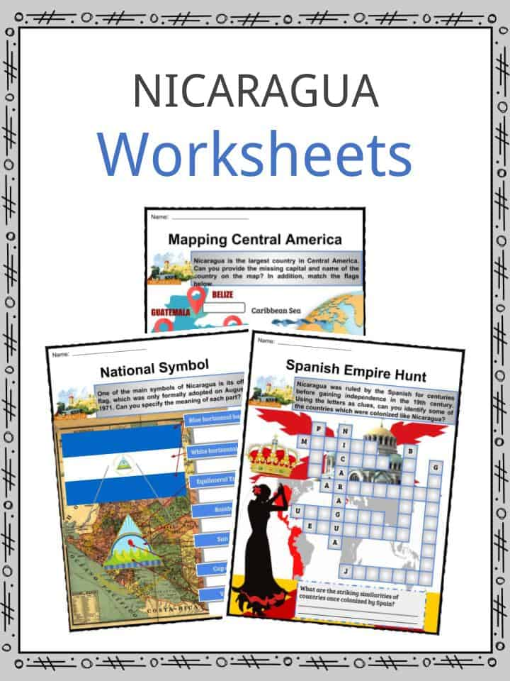 Nicaragua Facts Worksheets Geography