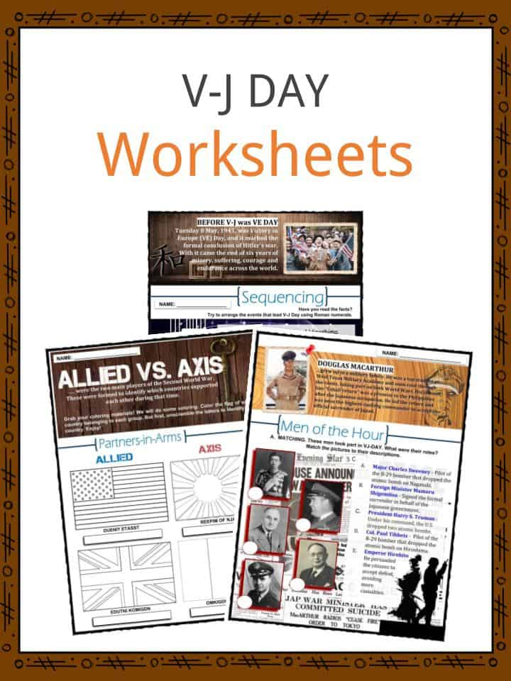 VJ DAY Worksheets