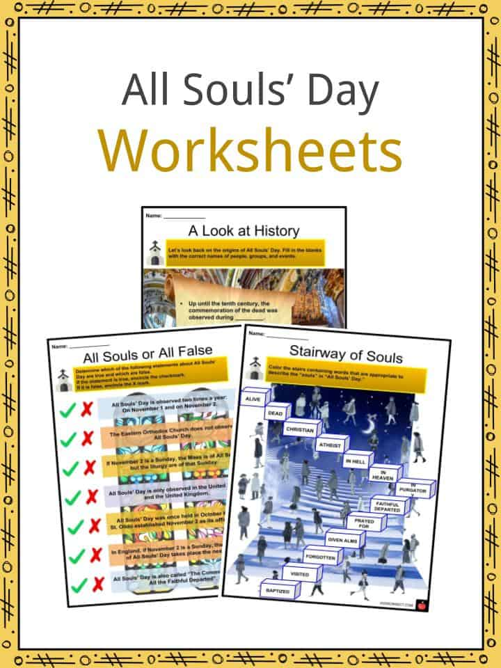 All Souls' Day Worksheets