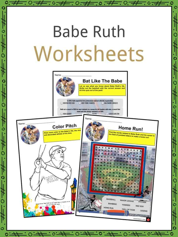 Babe Ruth Worksheets