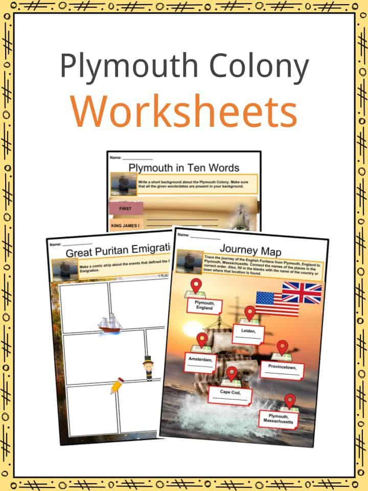 Plymouth Colony Worksheets