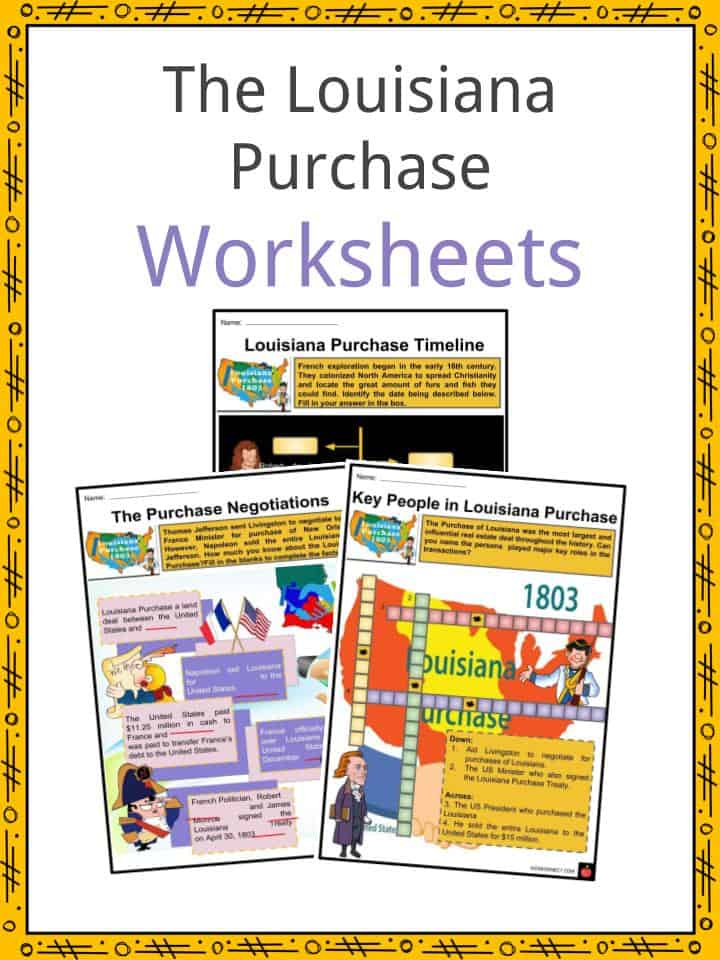 The Louisiana Purchase Worksheets