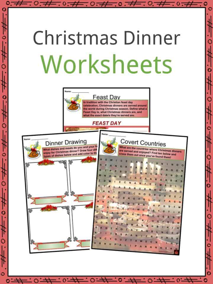 Christmas Dinner Worksheets