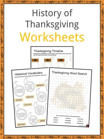 History of Thanksgiving Worksheets