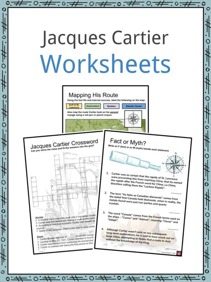 Jacques Cartier Worksheets