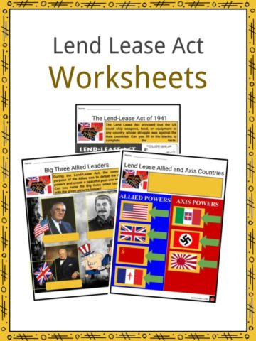 Lend Lease Act Worksheets