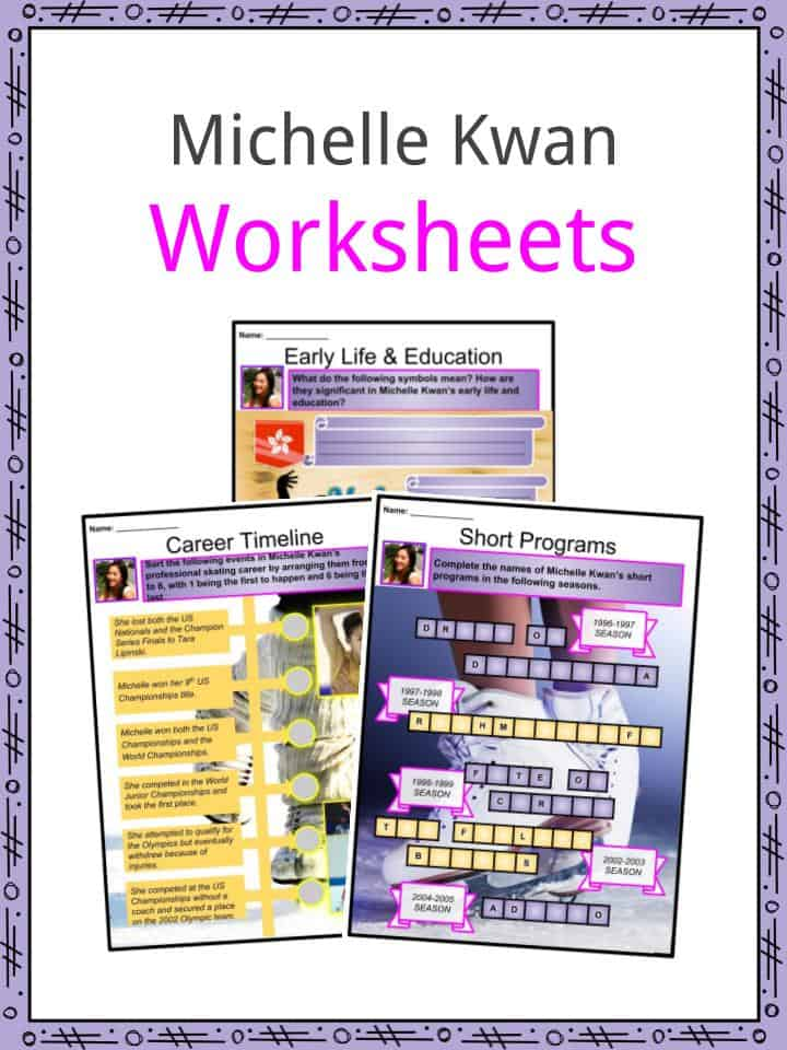 Michelle Kwan Facts Worksheets Life Career Achievements For Kids