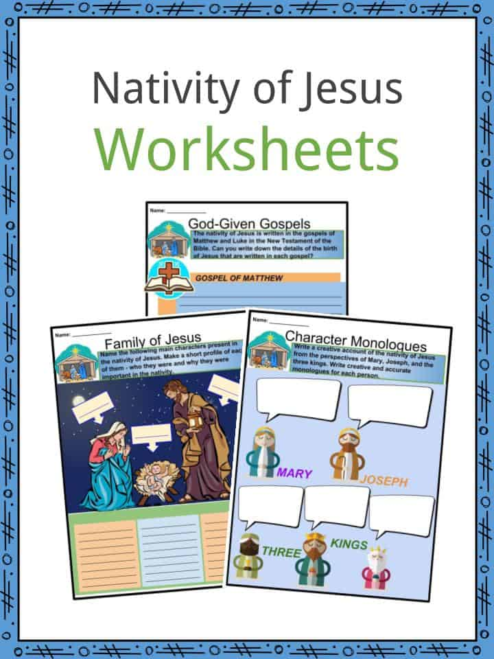 Nativity of Jesus Worksheets