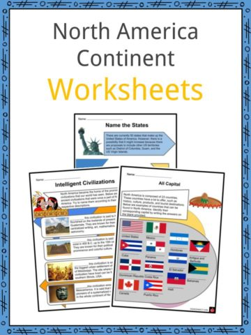 North America Continent Worksheets