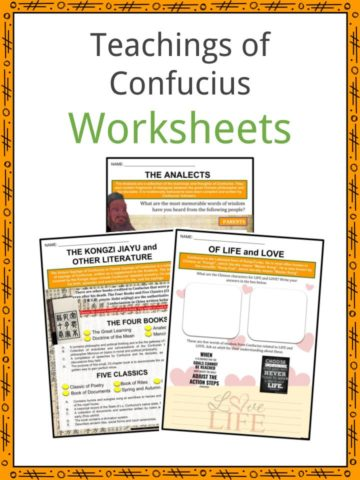 Teachings of Confucius Worksheets