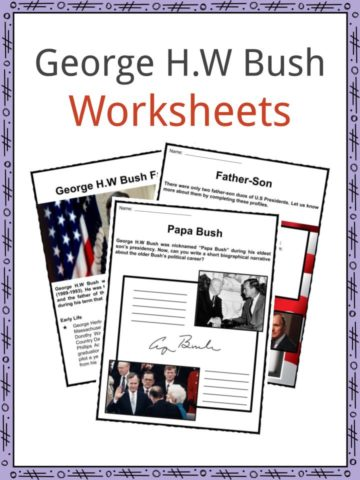George H.W Bush Worksheets