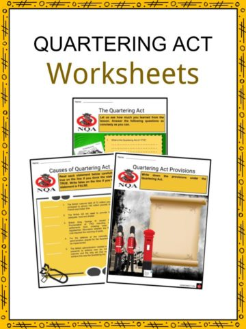 Quartering Act Worksheets
