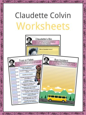 Claudette Colvin Worksheets